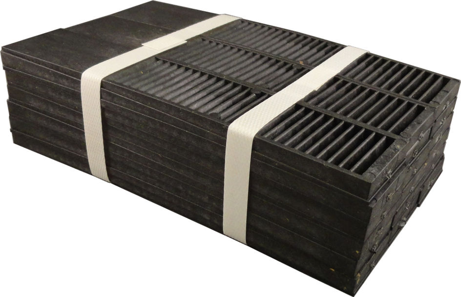 "An image showing the Timberwolf 8"" Banded Composite Shims in a bundled package."